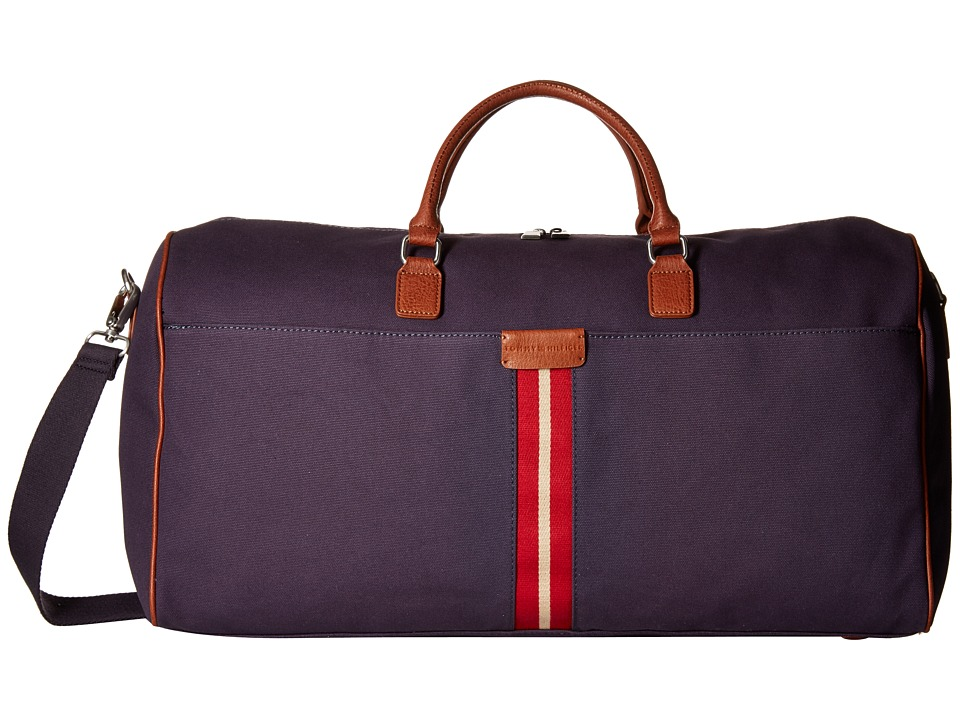 Tommy Hilfiger - Elijah - Canvas w/ PVC Trim Weekender (Navy) Weekender/Overnight Luggage