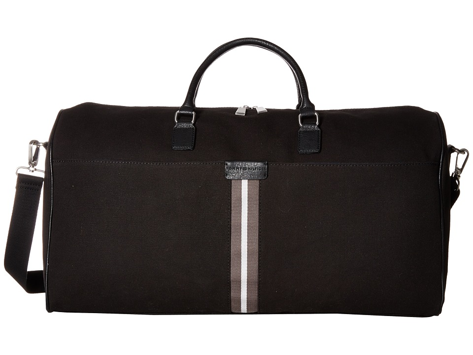 Tommy Hilfiger - Elijah - Canvas w/ PVC Trim Weekender (Black) Weekender/Overnight Luggage
