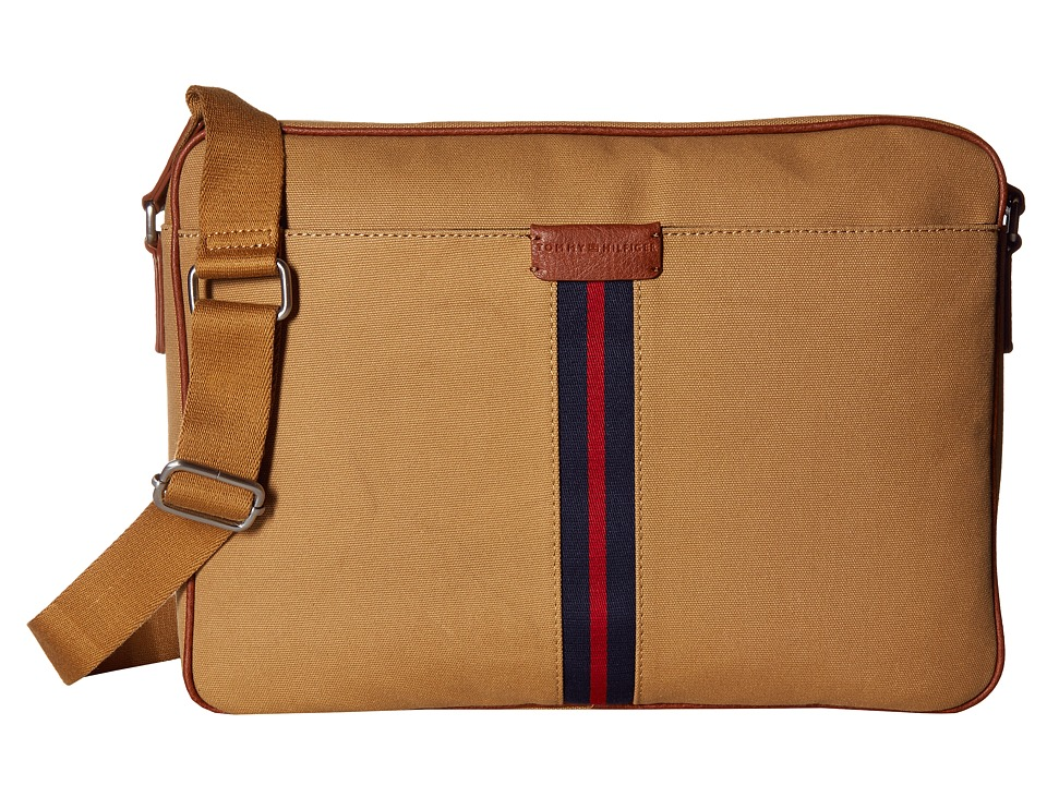 Tommy Hilfiger - Elijah - Canvas w/ PVC Trim Messenger (British Tan) Messenger Bags