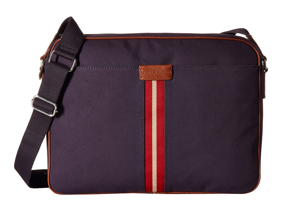 Tommy Hilfiger - Elijah - Canvas w/ PVC Trim Messenger (Navy) Messenger Bags