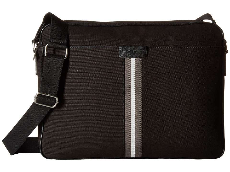 Tommy Hilfiger - Elijah - Canvas w/ PVC Trim Messenger (Black) Messenger Bags