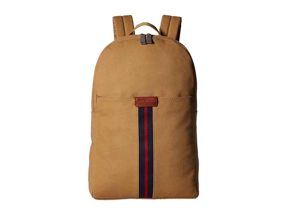 Tommy Hilfiger - Elijah - Canvas w/ PVC Trim Backpack (British Tan) Backpack Bags