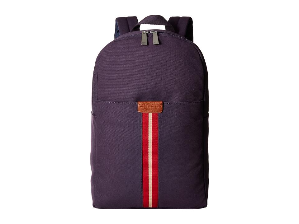 Tommy Hilfiger - Elijah - Canvas w/ PVC Trim Backpack (Navy) Backpack Bags