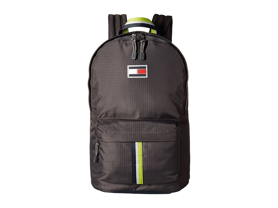 Tommy Hilfiger TH Sport Eyelets Ripstop Nylon Backpack (Anthracite) Backpack Bags