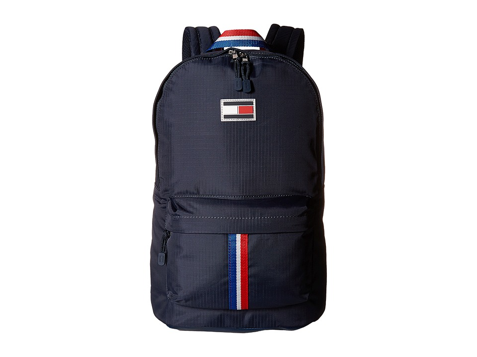 Tommy Hilfiger - TH Sport Eyelets - Ripstop Nylon Backpack (Navy) Backpack Bags