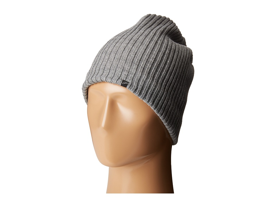 Plush - Fleece-Lined Ribbed Beanie (Heather Grey) Beanies
