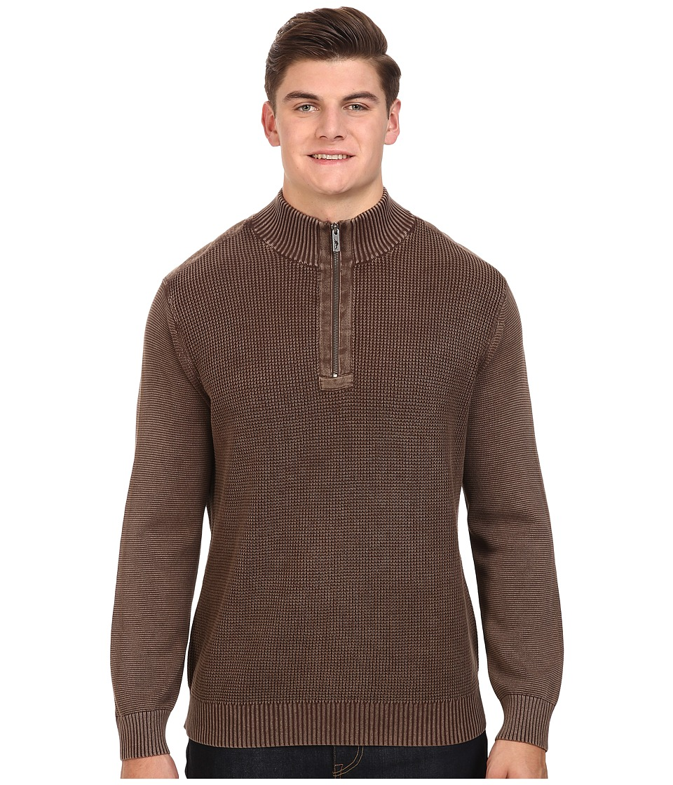 Tommy Bahama Big & Tall - Big Tall Coastal Shores 1/2 Zip (Double Chocolate) Men's Clothing