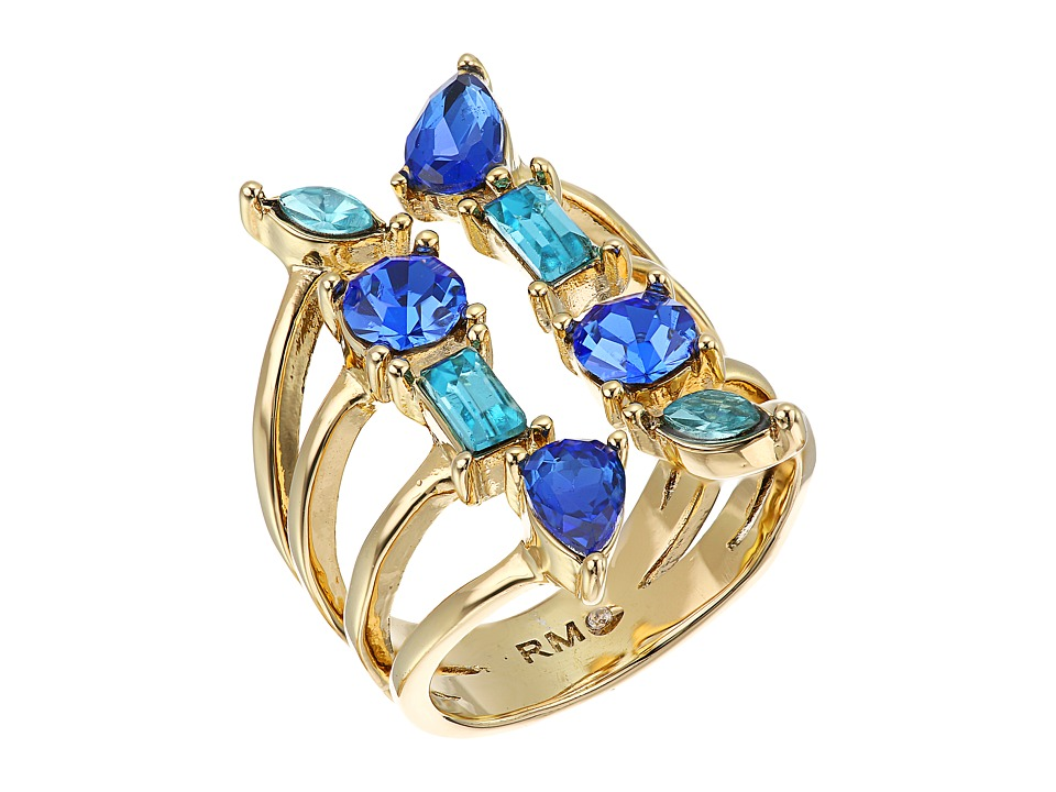 Rebecca Minkoff - Multi Stone Wrap Ring (Gold/Blue Multi) Ring