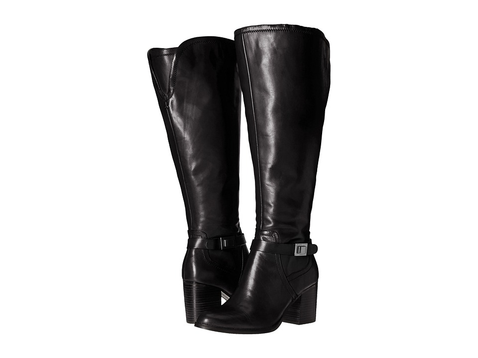 Franco Sarto - Arlette Wide Calf (Black Leather) Women's Boots