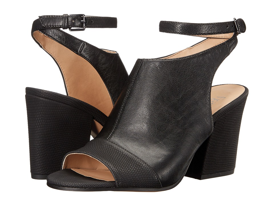 Franco Sarto Franchesca (Black Leather) High Heels