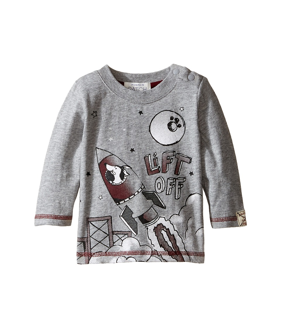 Pumpkin Patch Kids - 3-2-1 Top (Infant) (Grey Marle) Boy's Clothing