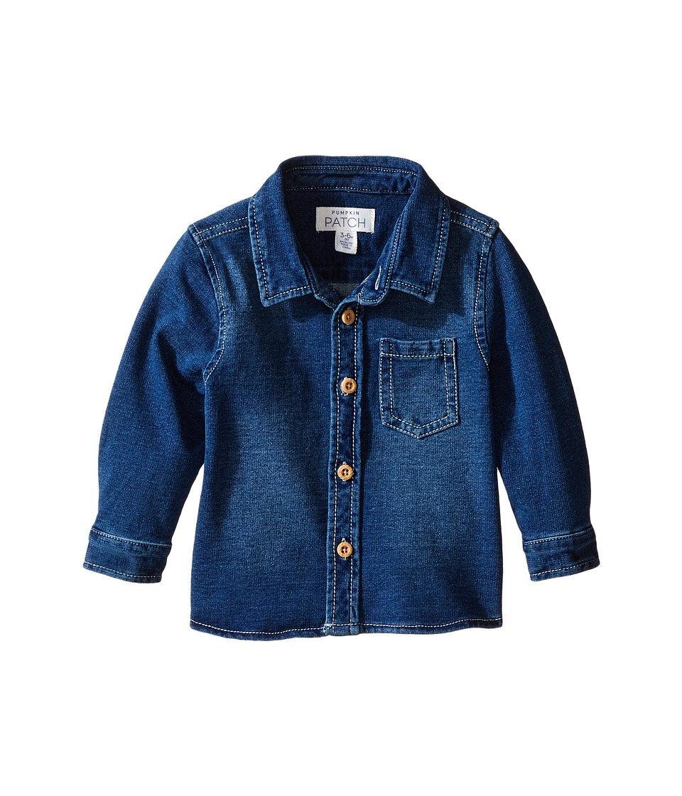 Pumpkin Patch Kids - Denim Knit Shirt (Infant) (Denim) Boy's Clothing