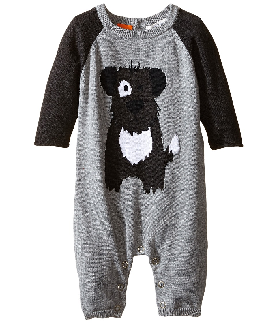 Pumpkin Patch Kids - Knit Dog All-In-One (Infant) (Grey Marle) Boy's Jumpsuit & Rompers One Piece