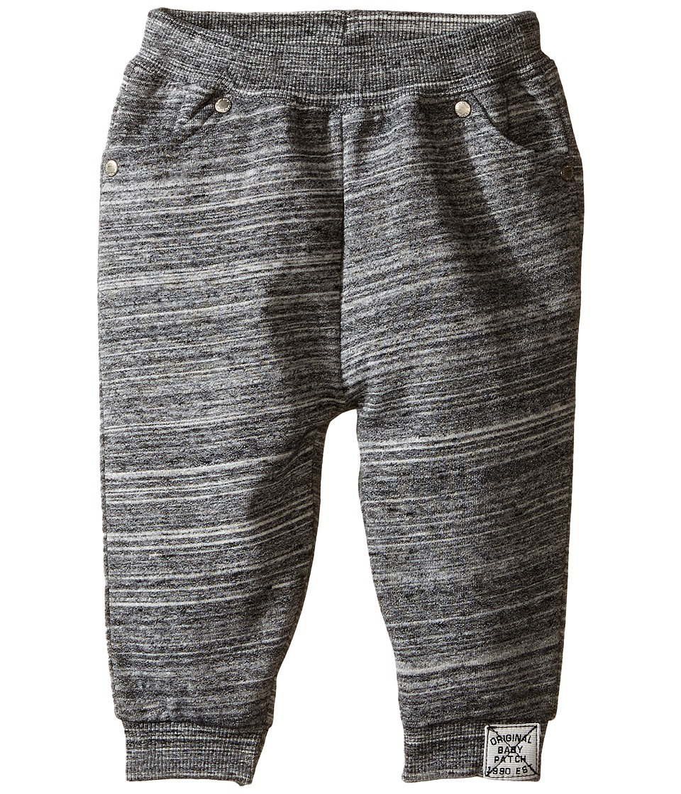 Pumpkin Patch Kids - Textured Joggers (Infant) (Caviar Marle) Boy's Clothing