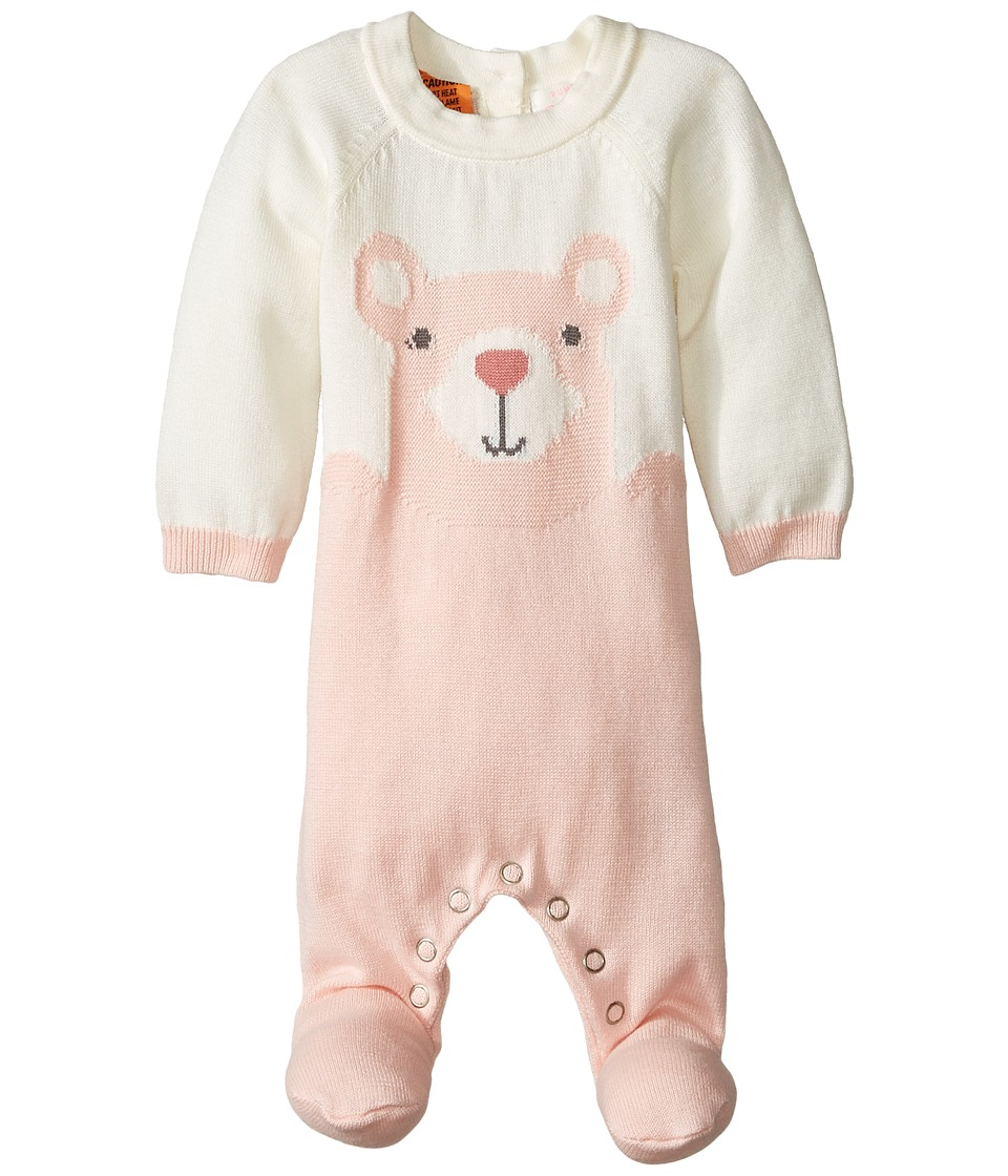 Pumpkin Patch Kids - Bear Knit All-In-One (Infant) (Powder Pink) Girl's Jumpsuit & Rompers One Piece