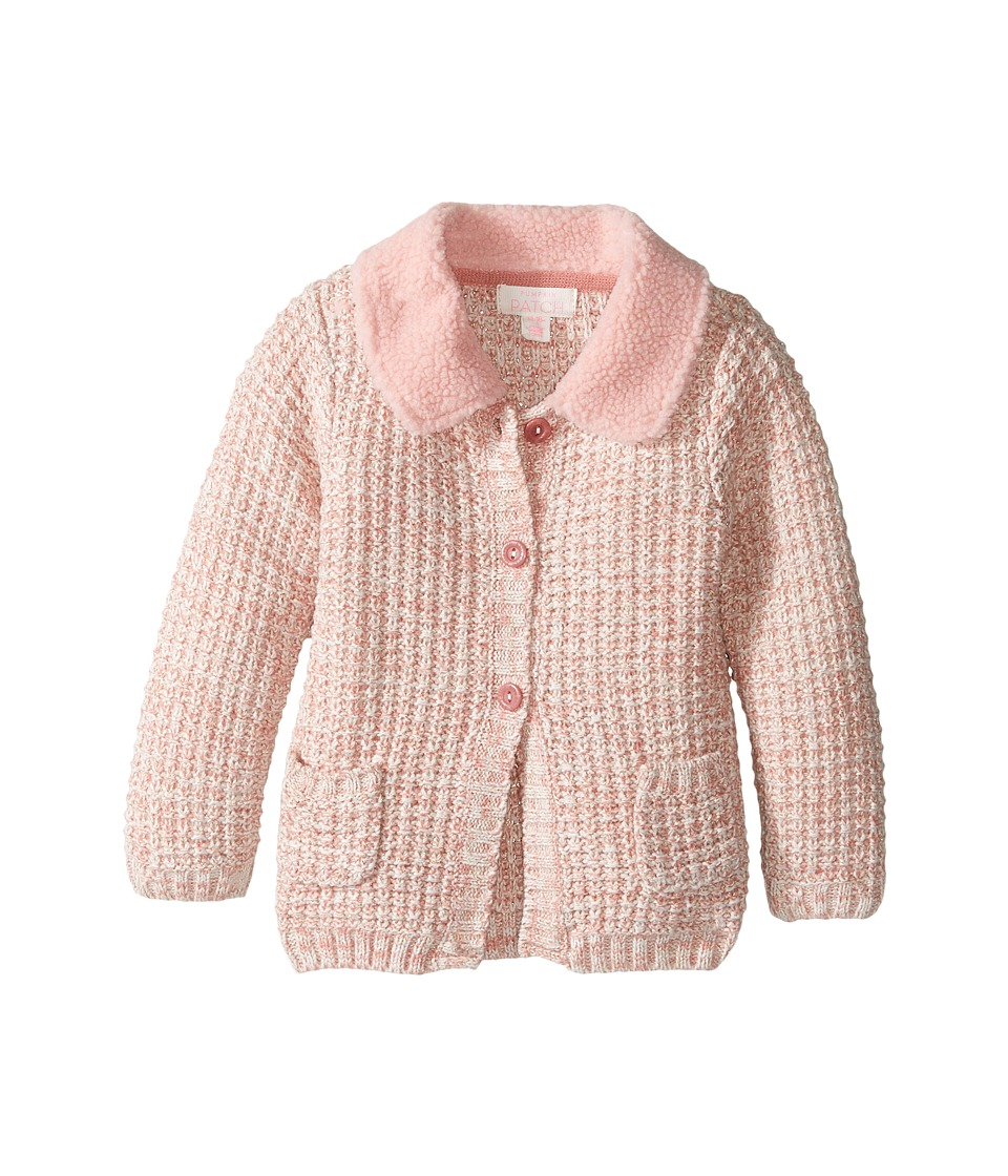 Pumpkin Patch Kids - Fluffy Collar Cardigan (Infant) (Dusty Rose) Girl's Sweater