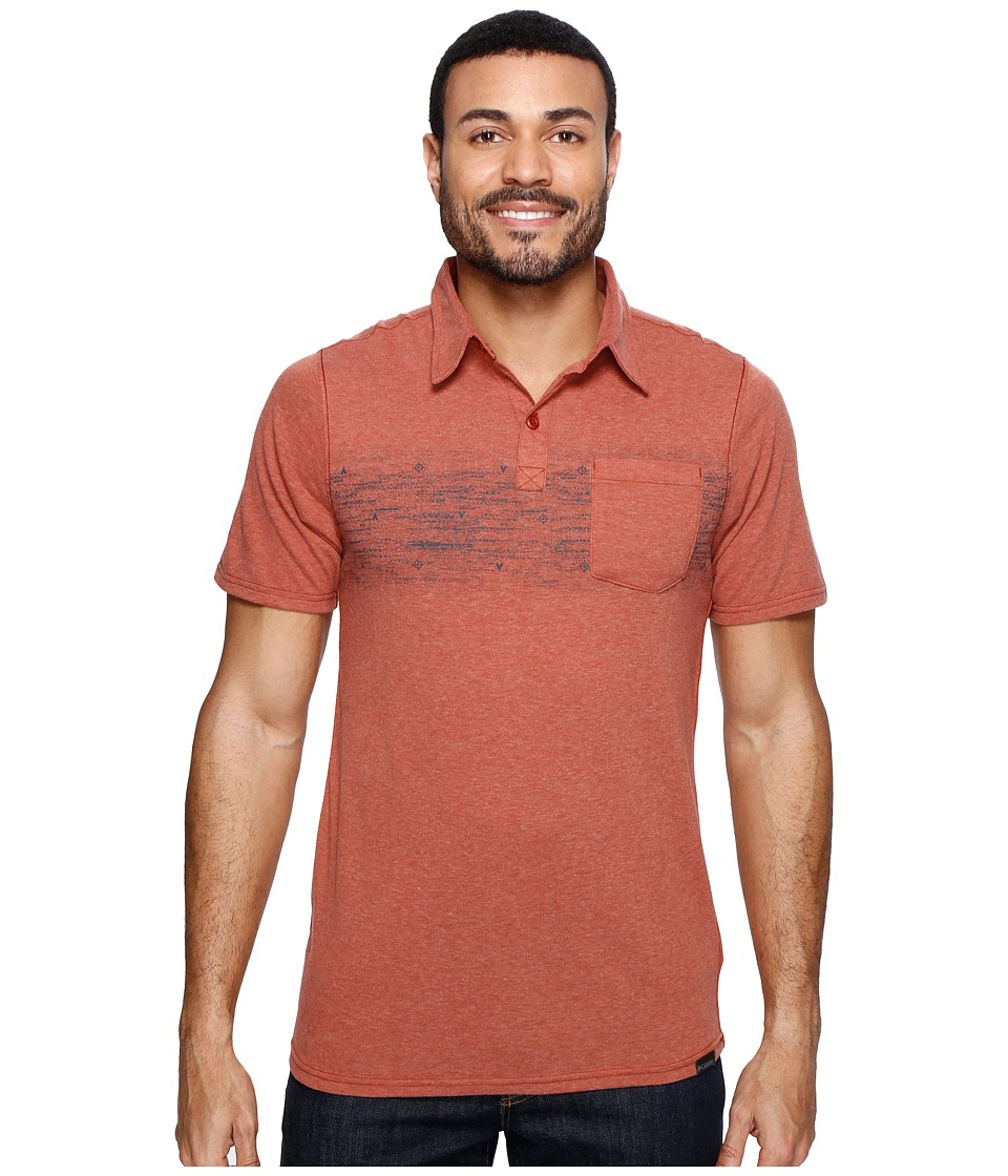 Columbia - Trail Shaker Polo Shirt (Rusty Heather/Blur Stripe) Men's Short Sleeve Pullover
