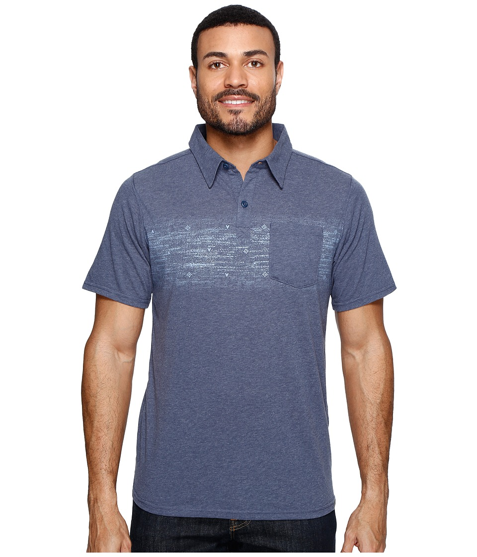 Columbia - Trail Shaker Polo Shirt (Zinc Heather/Blur Stripe) Men's Short Sleeve Pullover