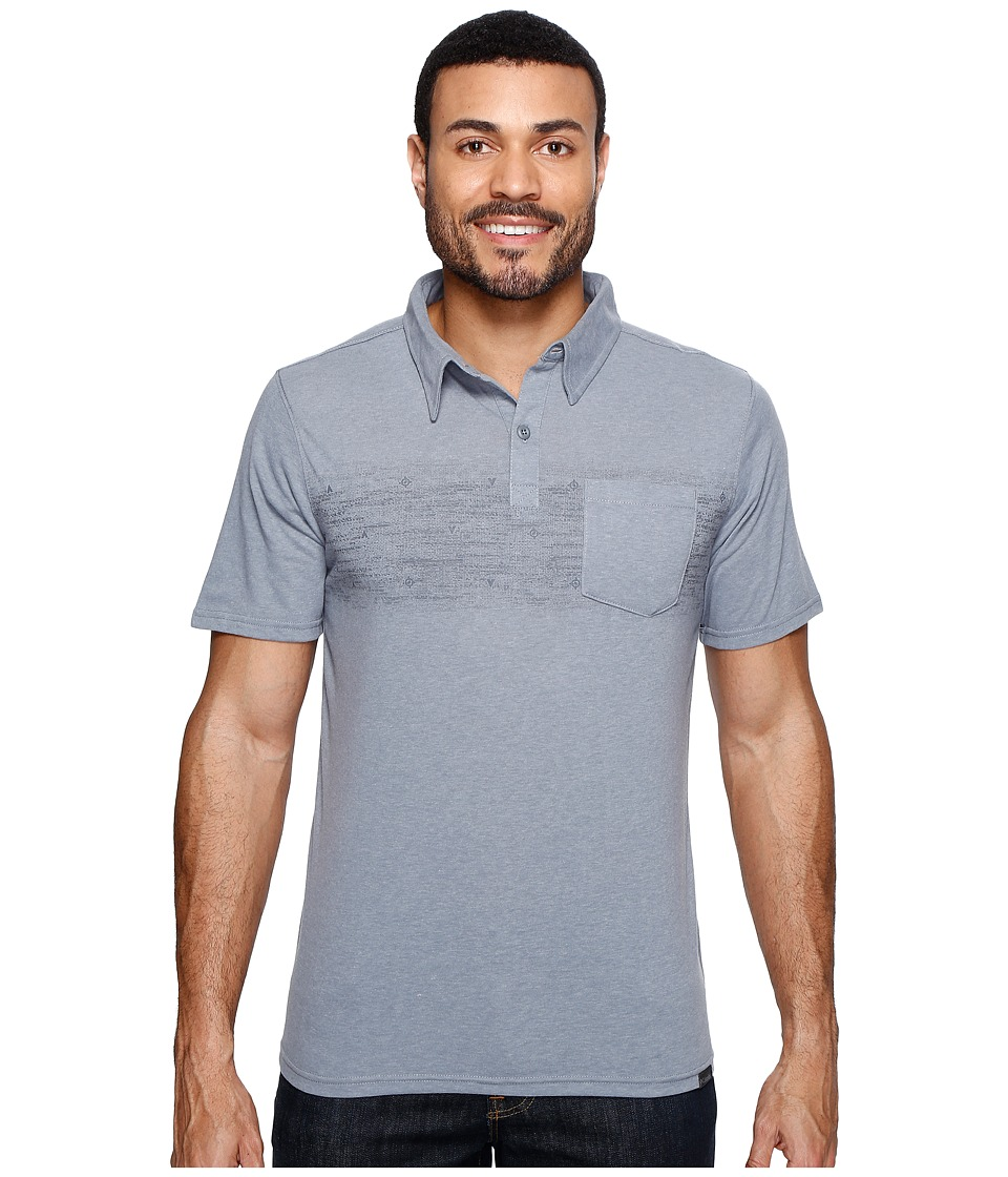 Columbia - Trail Shaker Polo Shirt (Grey Ash Heater/Blur Stripe) Men's Short Sleeve Pullover