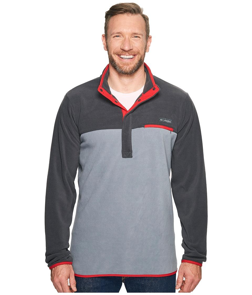 Columbia - Mountain Side Fleece Jacket - Tall (Grey Ash/Shark/Mountain Red) Men's Coat