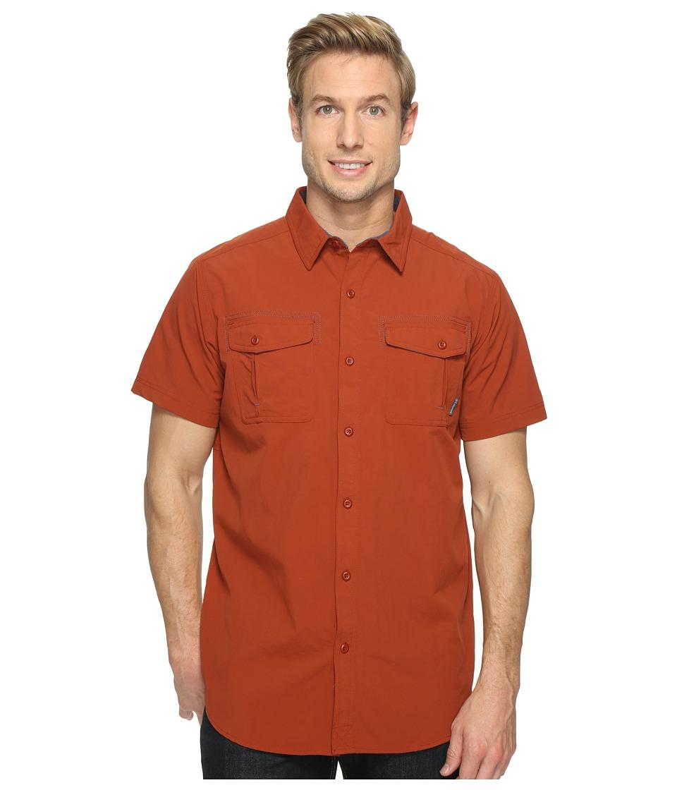 Columbia - Twisted Divide Short Sleeve Shirt (Rusty/Zinc) Men's Short Sleeve Button Up