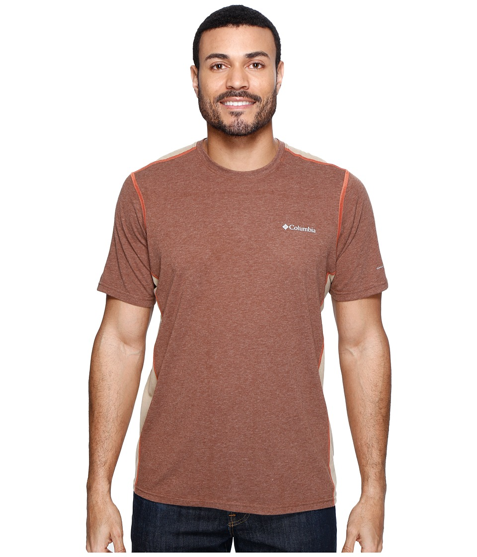 Columbia - Silver Ridge Short Sleeve T-Shirt (Pony Heather/British Tan/Tuscan) Men's T Shirt