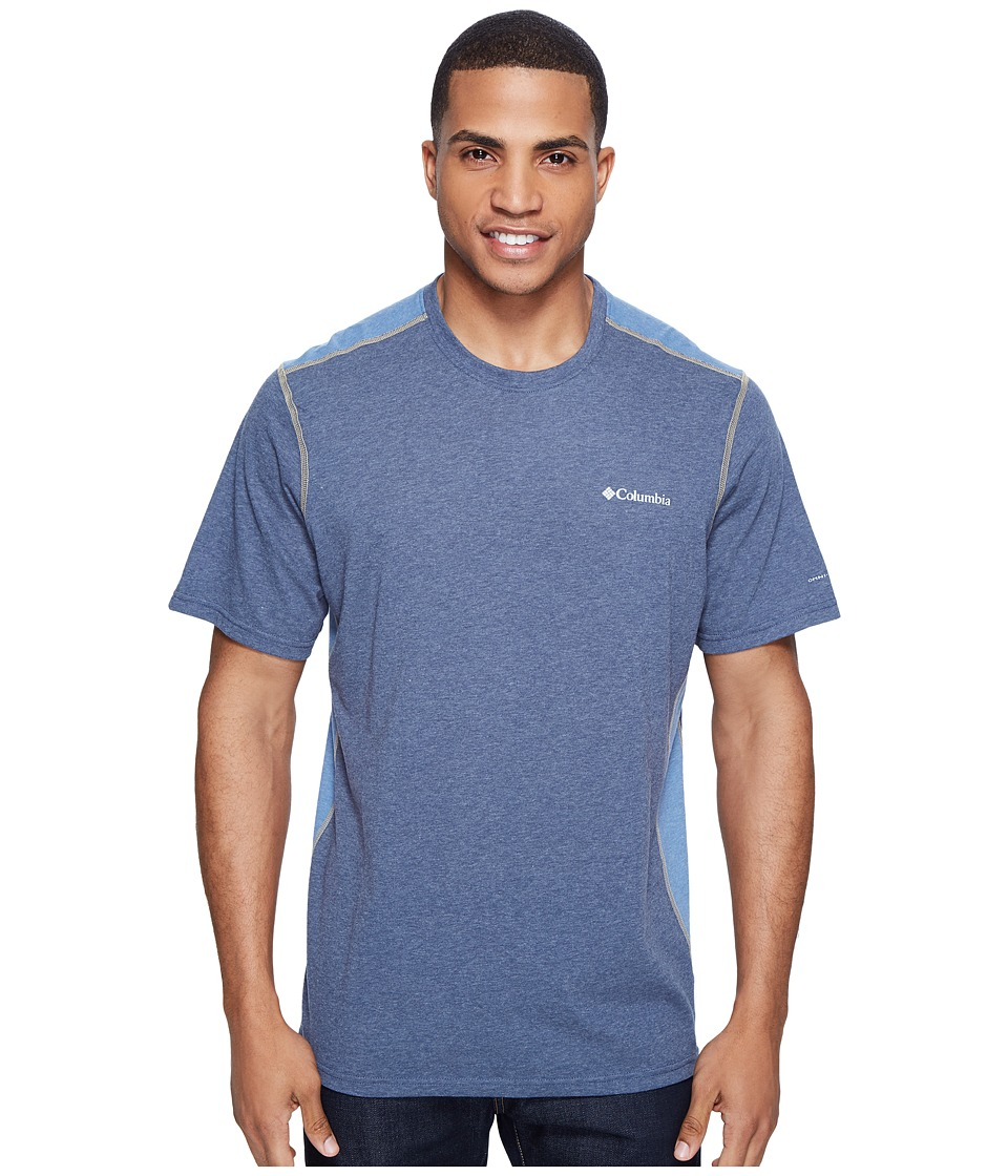 Columbia - Silver Ridge Short Sleeve T-Shirt (Zinc Heather/Steel/British Tan) Men's T Shirt