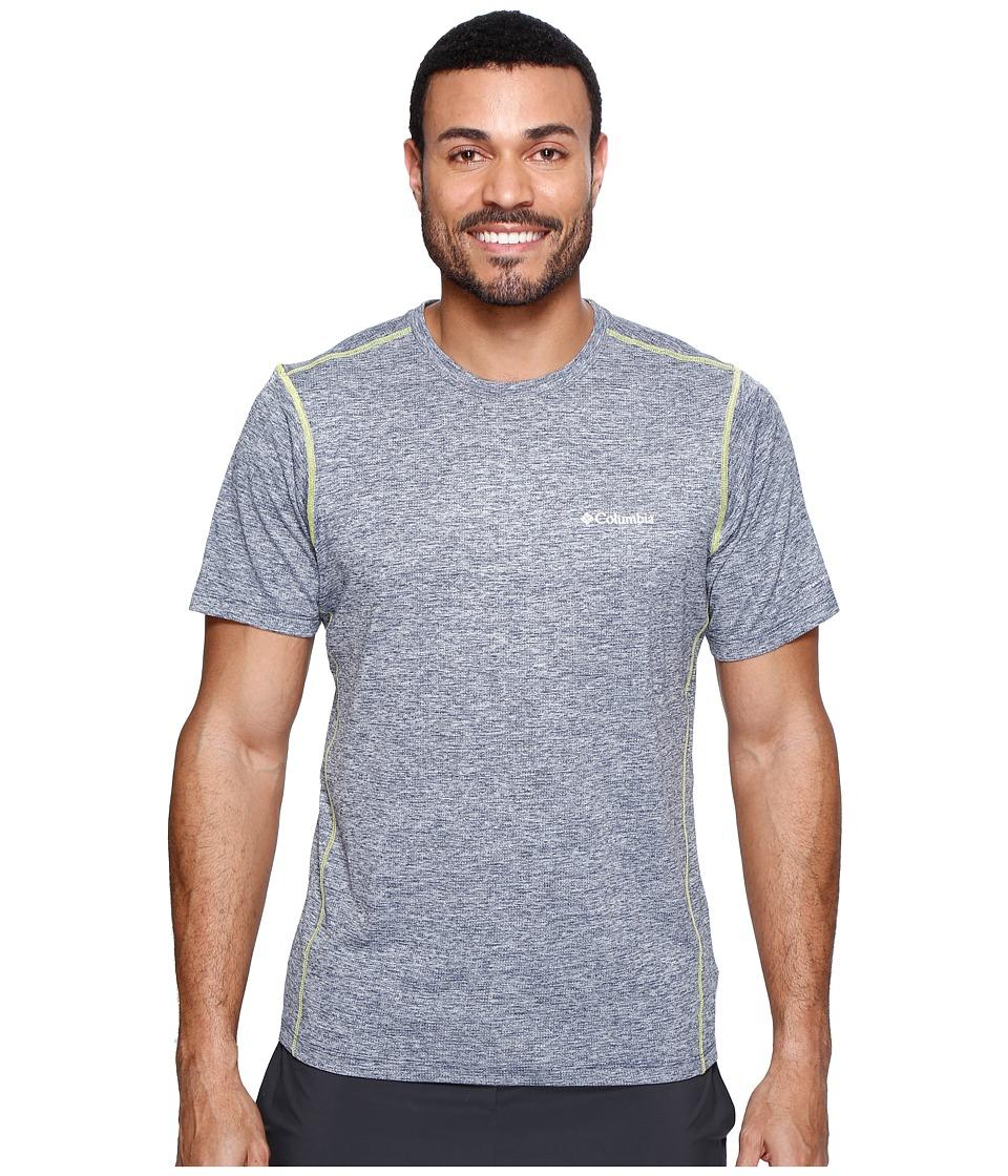 Columbia Deschutes Runner Short Shirt (Zinc Heather/Voltage) Men