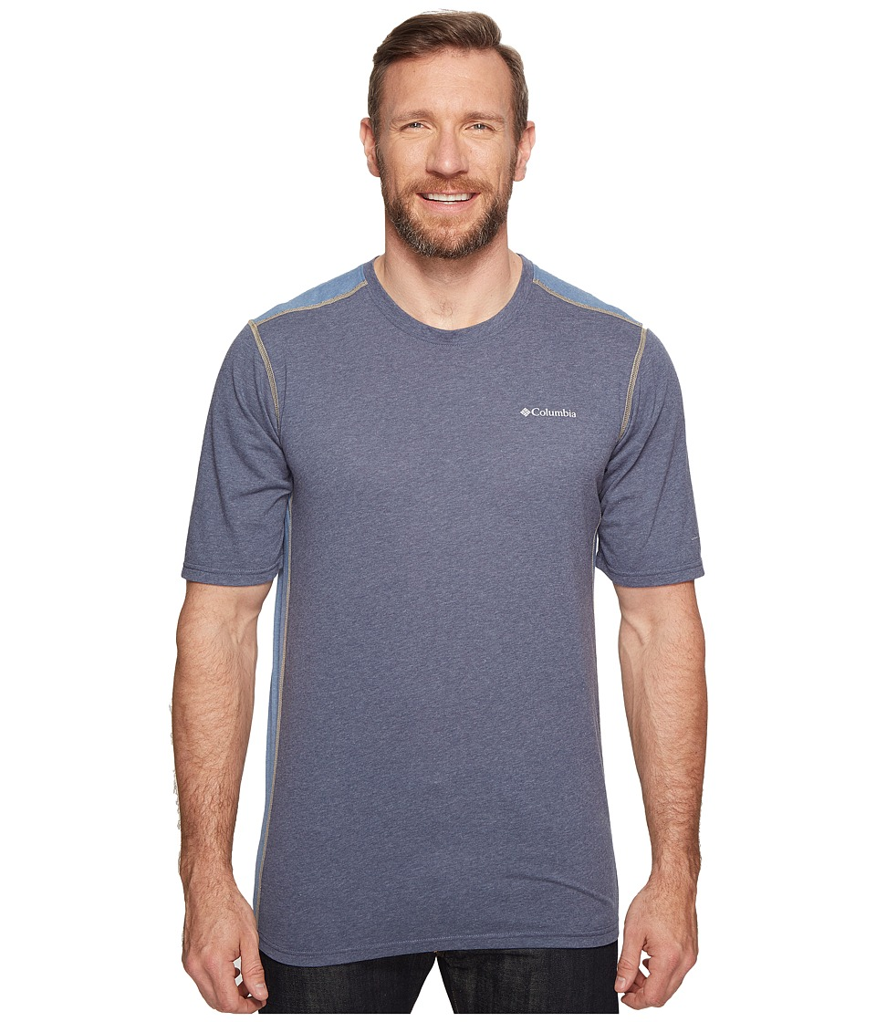 Columbia - Big Tall Silver Ridge Short Sleeve T-Shirt (Zinc/Heather/Steel) Men's T Shirt