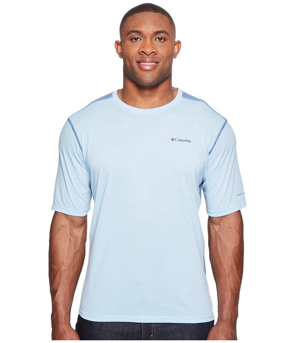 Columbia - Big Tall Silver Ridge Short Sleeve T-Shirt (Oxygen Heather/Steel) Men's T Shirt