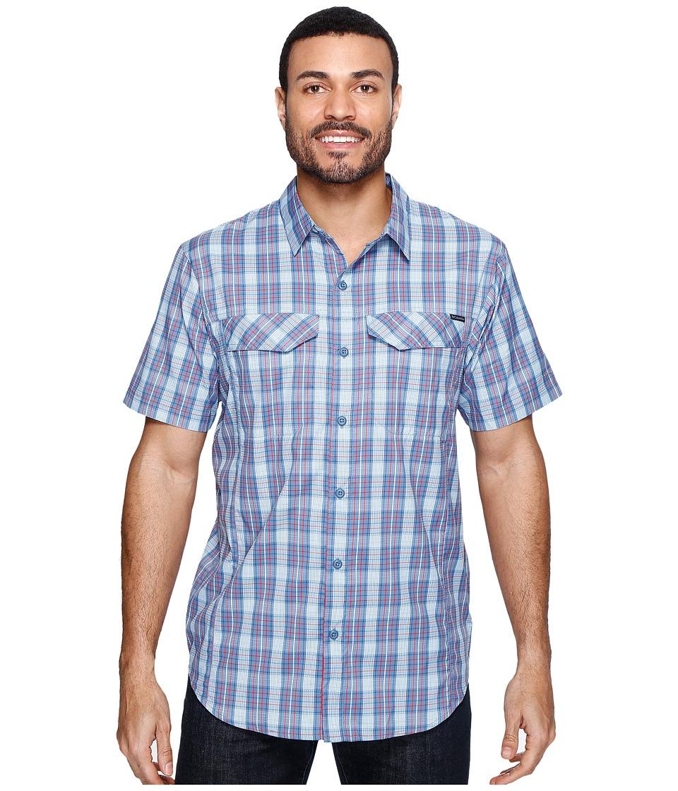 Columbia - Silver Ridge Lite Plaid Short Sleeve Shirt (Marine Blue Plaid) Men's Short Sleeve Button Up