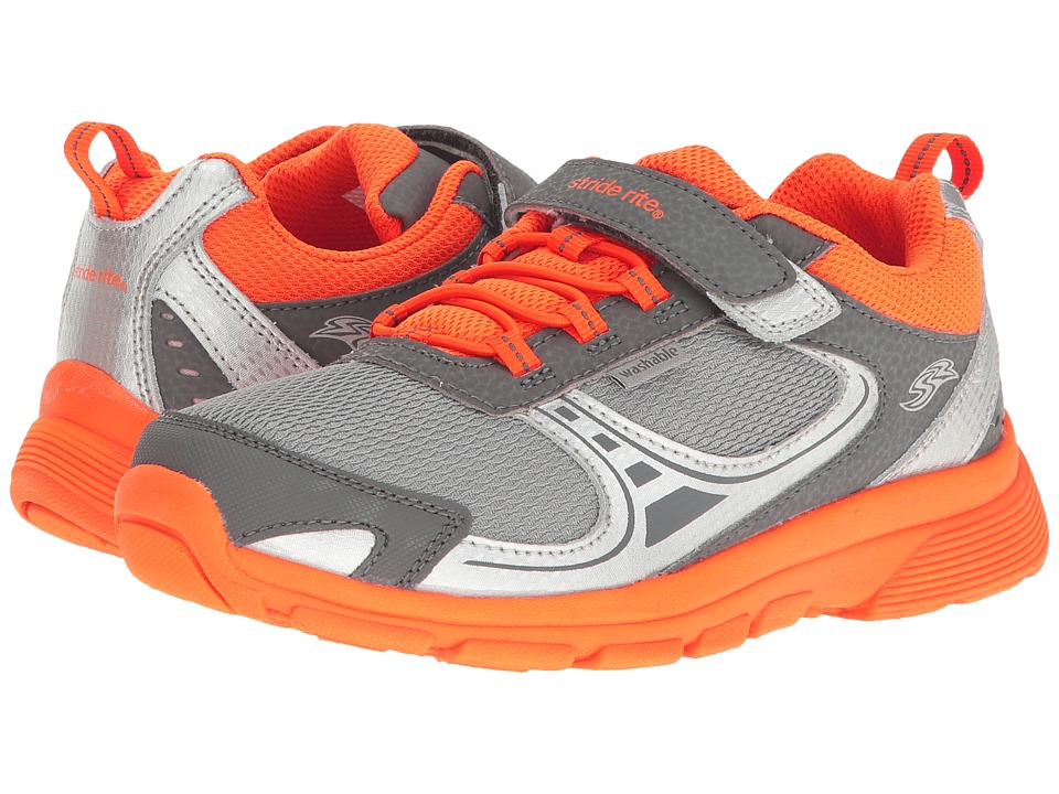 Stride Rite - M2P Lawson (Little Kid) (Grey/Orange) Boy's Shoes