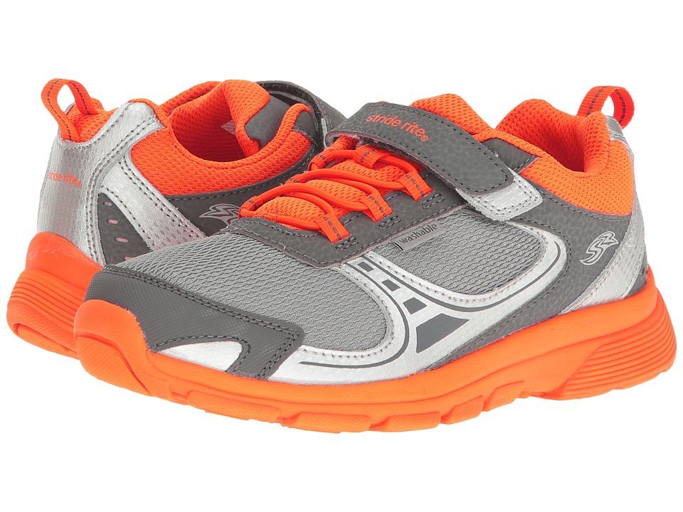 Stride Rite - M2P Lawson (Little Kid) (Grey/Orange) Boy's Shoes