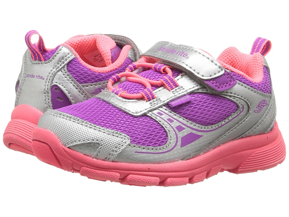 Stride Rite - Made 2 Play Mavis (Toddler) (Silver/Magenta) Girl's Shoes
