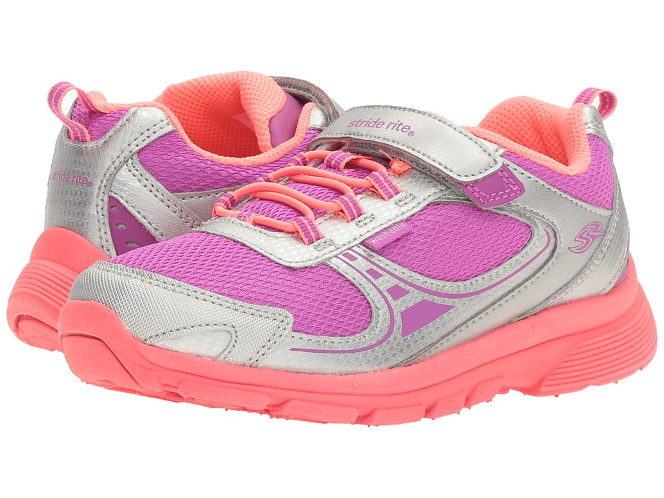 Stride Rite - Made 2 Play Mavis (Little Kid) (Silver/Magenta) Girl's Shoes