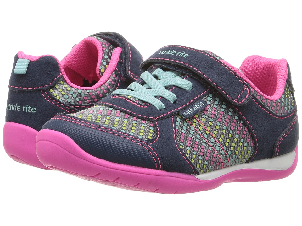 Stride Rite - Made 2 Play Molly (Toddler) (Navy Multi) Girl's Shoes