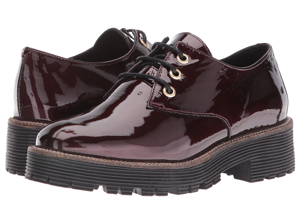 Shellys London - Terrwyn Oxford (Burgundy Patent) Women's Lace up casual Shoes