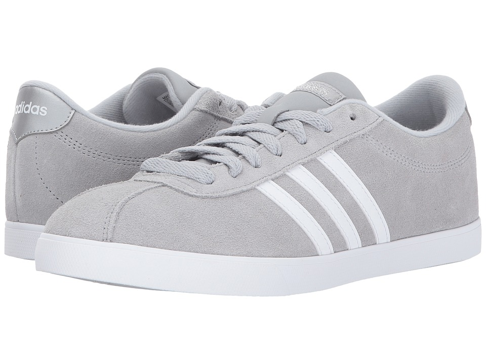 adidas - Courtset (Clear Onix/White/Silver) Women's Lace up casual Shoes