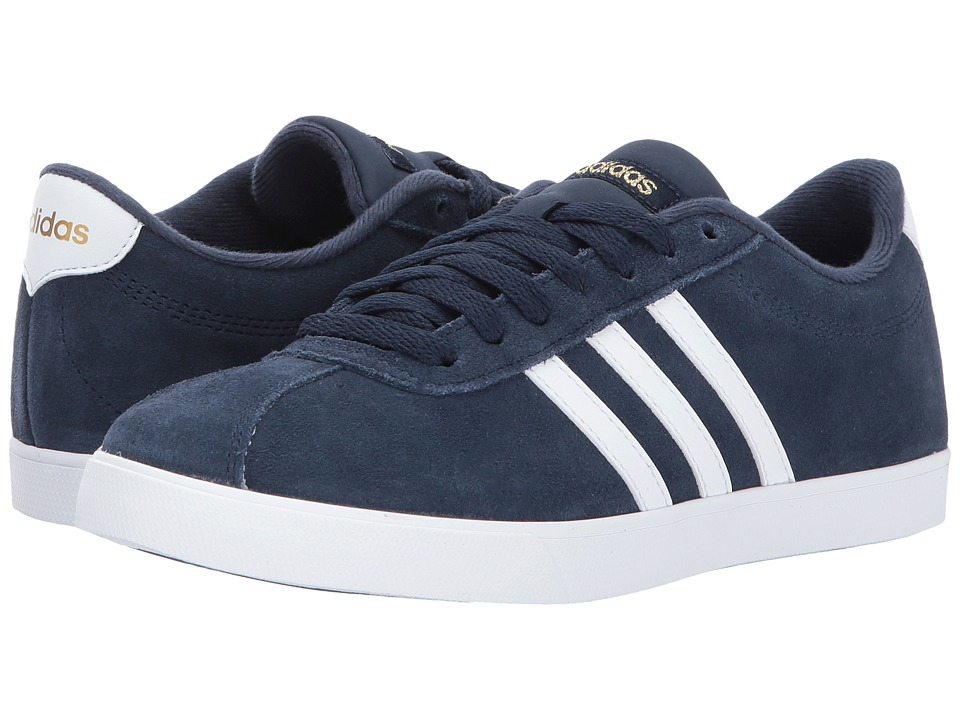 adidas - Courtset (Navy/White/Gold) Women's Lace up casual Shoes