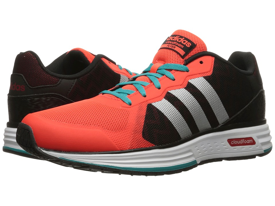 adidas - Cloudfoam Flyer (Black/Silver/Solar Red) Men's Shoes