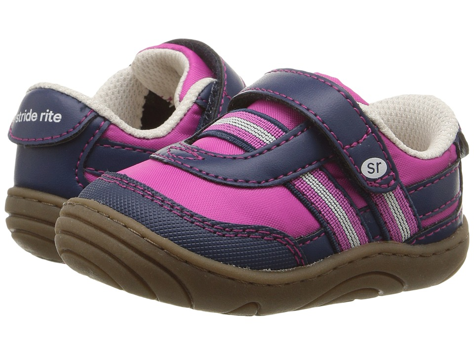 Stride Rite - Keeva (Little Kid/Big Kid) (Pink/Navy) Girl's Shoes