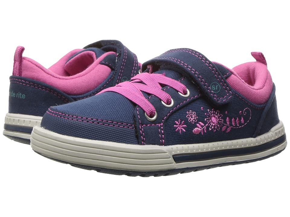 Stride Rite - Made 2 Play Maxwell (Toddler) (Navy) Girl's Shoes