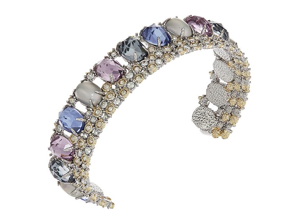 Alexis Bittar - Crystal Lace Cuff w/ Custome Cut Stone Bracelet (Rhodium/10K Gold) Bracelet