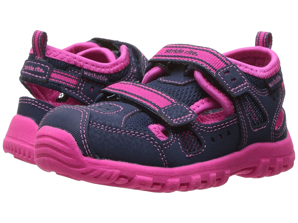 Stride Rite - Made 2 Play Christiana (Toddler) (Navy/Pink) Girl's Shoes