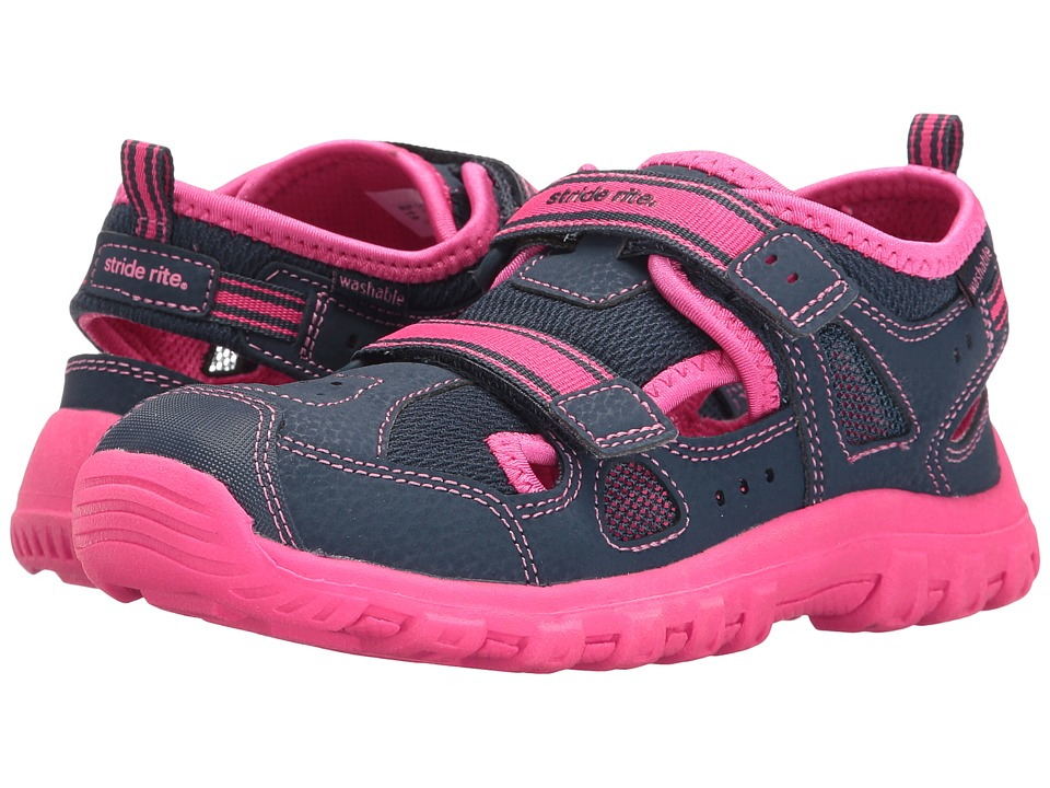 Stride Rite - Made 2 Play Christiana (Toddler/Little Kid) (Navy/Pink) Girl's Shoes