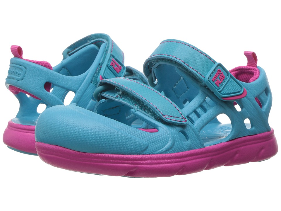 Stride Rite - Made 2 Play Phibian Sandal (Toddler) (Turquoise) Girls Shoes