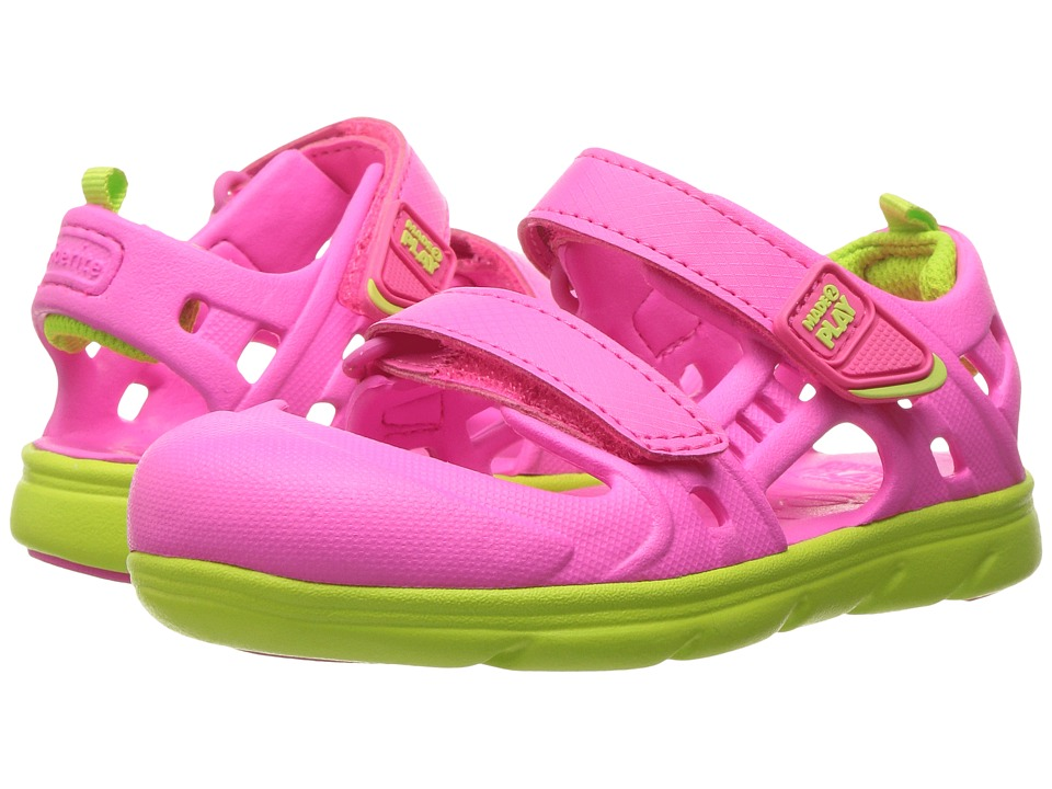 Stride Rite - Made 2 Play Phibian Sandal (Toddler) (Pink) Girls Shoes