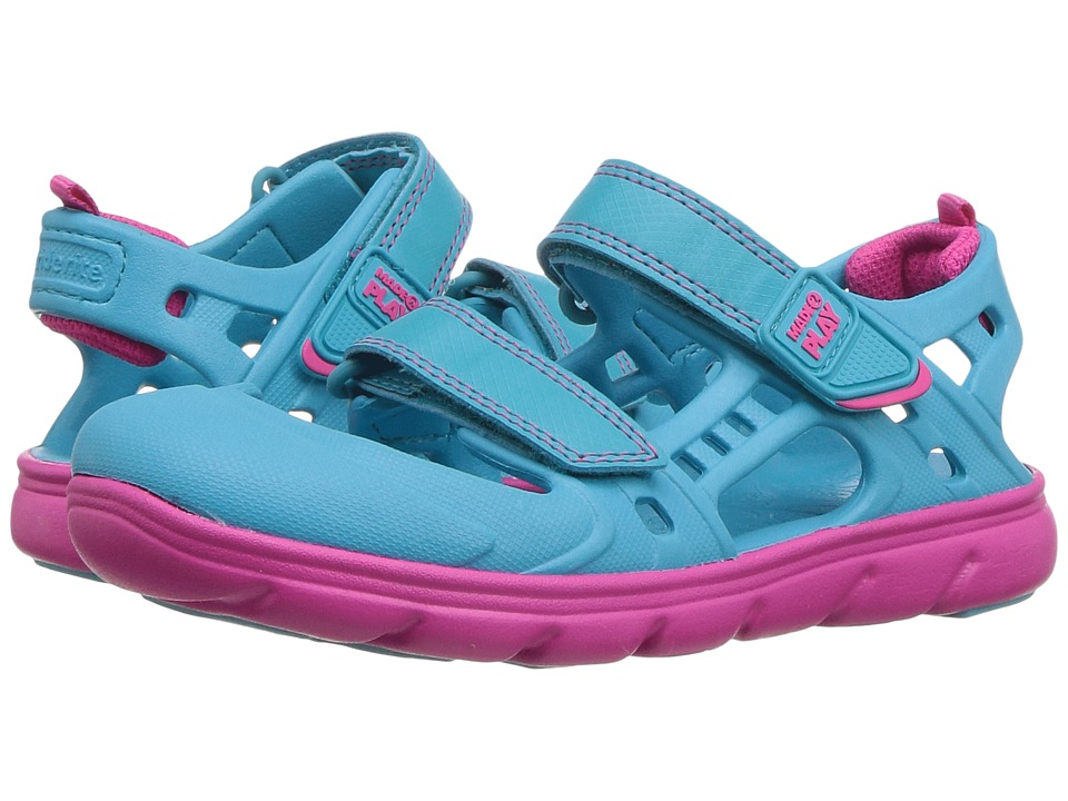 Stride Rite - Made 2 Play Phibian Sandal (Little Kid) (Turquoise) Girls Shoes