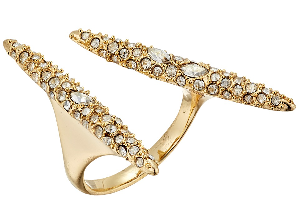 Alexis Bittar - Crystal Encrusted Modernist Spear Ring (10K Gold) Ring