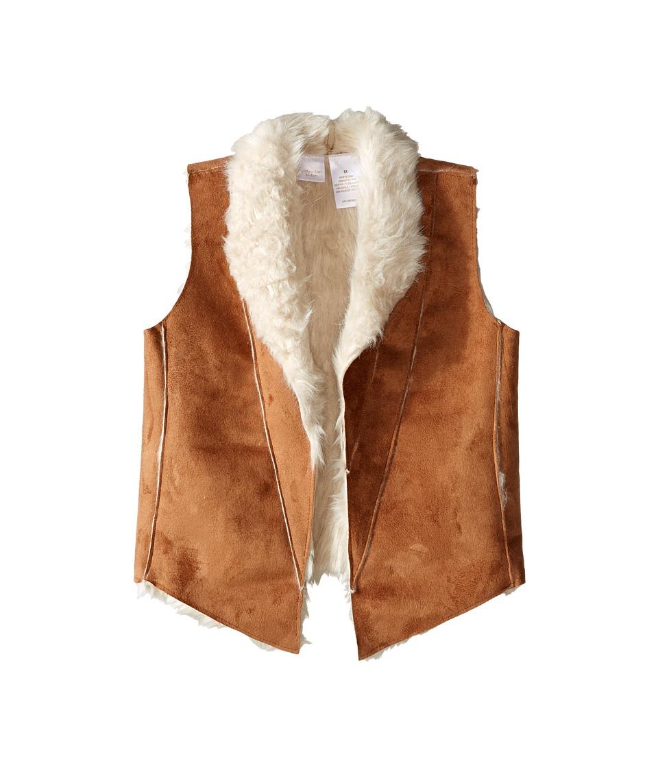 Kardashian Kids - Mock Suede Fur Vest (Toddler/Little Kids) (Ivory) Girl's Vest